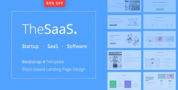 TheSaaS - Responsive Bootstrap SaaS, Startup & WebApp Template