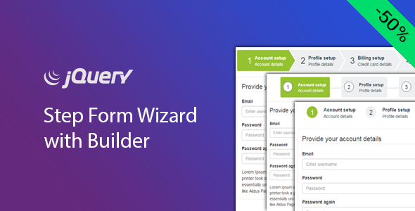 jQuery Step Wizard with Step Form Builder - Timon Step Form
