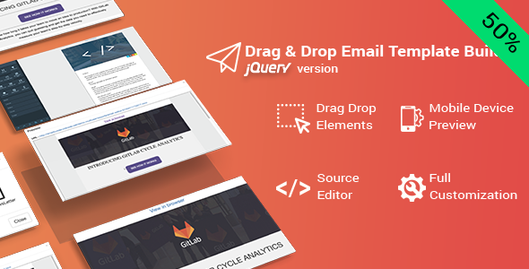 Drag & Drop Email Template Builder for jQuery