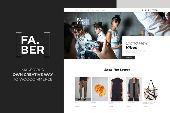 Faber -  Fashion & Clothing Shop for Woocommerce