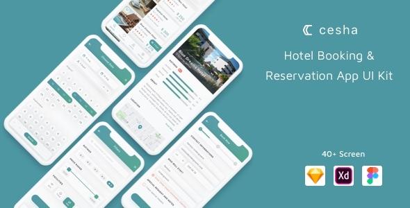 Cesha - Hotel Booking & Reservation App UI Kit