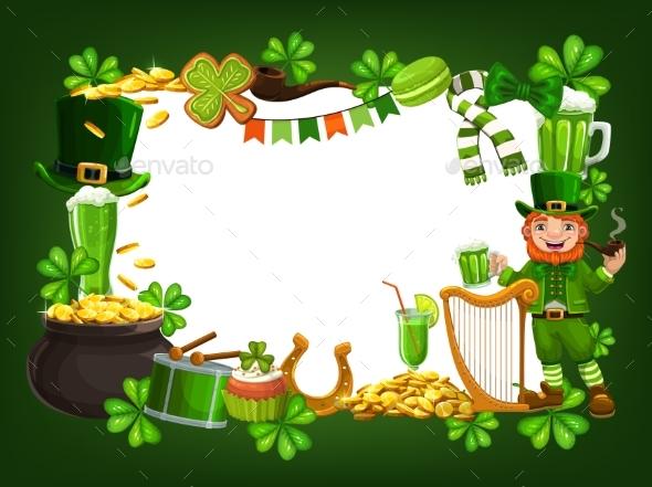 St Patricks Feast Frame Symbols of Ireland