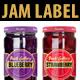 Jam Label Design (Blueberry & Strawberry). - GraphicRiver Item for Sale