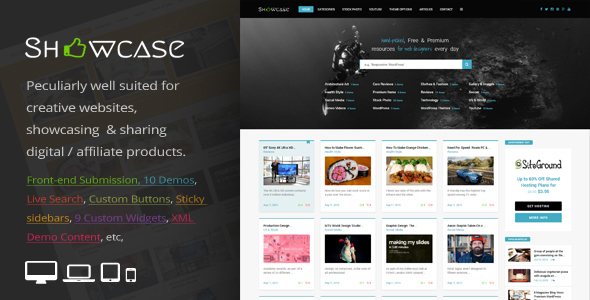 Showcase = Responsive WordPress Grid / Masonry Blog Theme