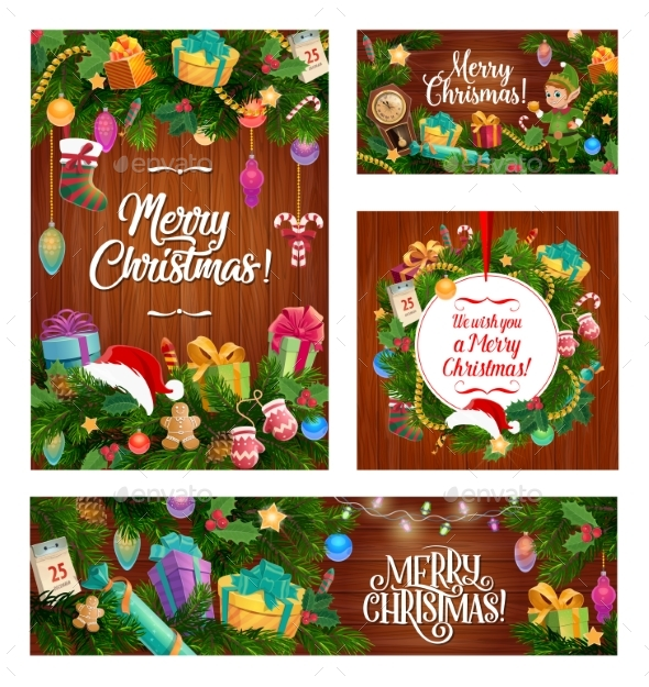 Christmas Winter Holiday Gifts and Decorations