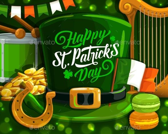 St Patrick Day Green Leprechaun Hat