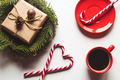 Cup of coffee with sweets for Christmas, festive mood, New Year - PhotoDune Item for Sale