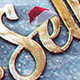 Christmas Gold Snow Logo - VideoHive Item for Sale