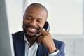 Mature black business man talking on phone - PhotoDune Item for Sale
