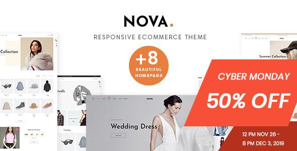 Nova Prestashop 1.7.6.x Theme for Fashion Business