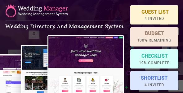 Wedding Manager : Manage Wedding Events and Vendor Listing Event Management WireFrame