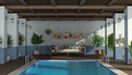 Swimming pool under an old porch - PhotoDune Item for Sale
