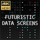 Futuristic Data Screens (4K) - VideoHive Item for Sale