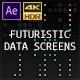 Futuristic Data Screens (AE) - VideoHive Item for Sale