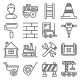 Engineering Building Construction Icons Set - GraphicRiver Item for Sale