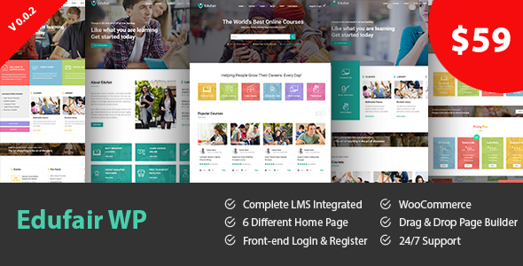 Edufair - Multipurpose WordPress Theme For Education