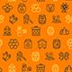 Honey Signs Seamless Pattern Background Vector - GraphicRiver Item for Sale