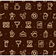 Coffee House Signs Seamless Pattern Background on a Brown - GraphicRiver Item for Sale