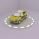 low poly car model c4 citroen - 3DOcean Item for Sale