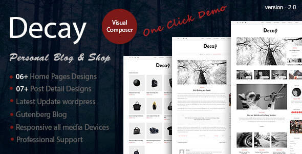Decay - A Responsive Personal Blog & Woocommerce Shop WordPress Theme 4