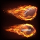 Flying Rugby Ball in Fire - GraphicRiver Item for Sale