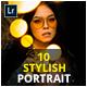 10 Stylish Portrait Lightroom & Camera RAW Presets - GraphicRiver Item for Sale