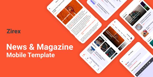 Zirex - News & Magazine Mobile Template