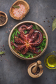 Big boiled octopus with lemon and parsley, copy space - PhotoDune Item for Sale
