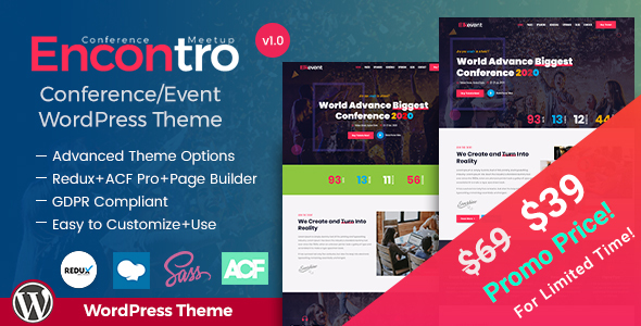 Encontro - Event Conference WordPress Theme