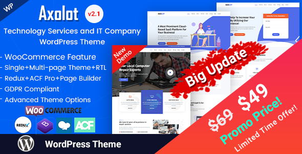 Axolot - IT Solutions & Digital Services WordPress Theme