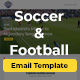 Soccer & Football Email Template - GraphicRiver Item for Sale
