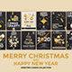 Set of 16 Christmas and Happy New Year Party Flyer Template - GraphicRiver Item for Sale