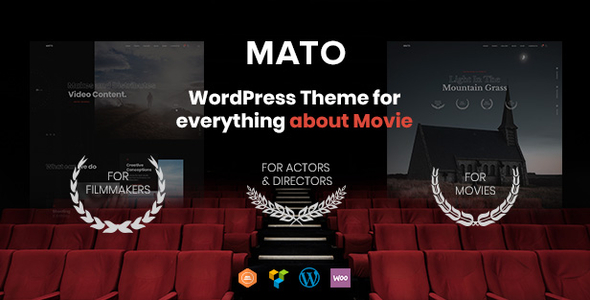 Mato - Movie Studios and Filmmakers WordPress Theme