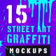 Street Art Graffiti Mockup Bundle - GraphicRiver Item for Sale
