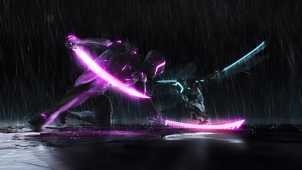 Cyborg Ninja Battle Logo