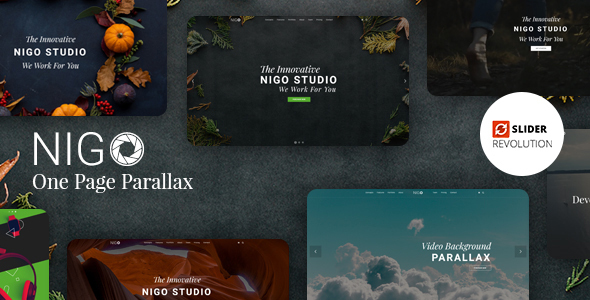 Nigo - Creative Parallax One Page HTML Template