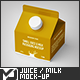 Small Juice / Milk Packaging Mock-Up - GraphicRiver Item for Sale