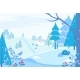 Winter Landscape with Pine Trees and Snowfall - GraphicRiver Item for Sale