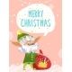 Merry Christmas, Elf Greet People with Holiday - GraphicRiver Item for Sale