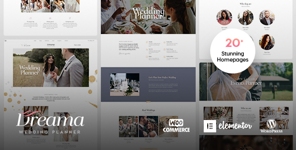 Dreama - Engagement & Wedding Planner WordPress Theme