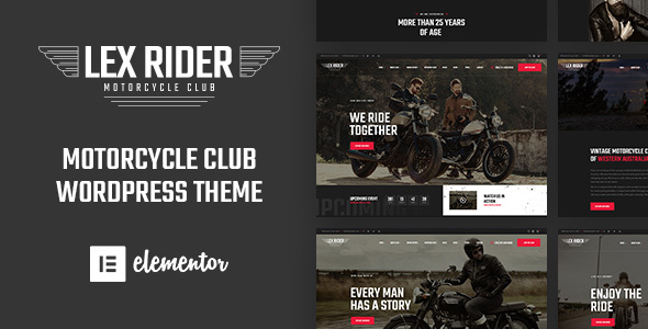 LexRider - Motorcycle Club WordPress Theme