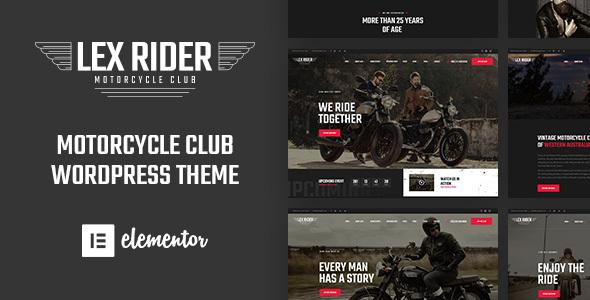 LexRider - Motorcycle Club WordPress Theme