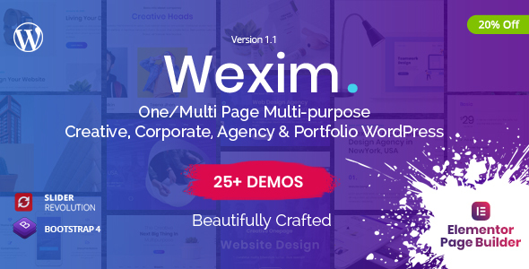 Wexim - Creative WordPress Theme