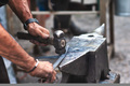 An artisan blacksmith knocks - PhotoDune Item for Sale