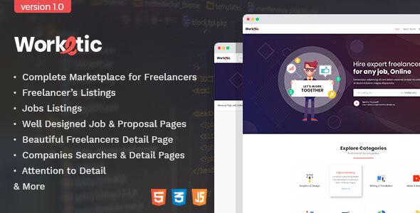 Worktern - Freelancer Marketplace HTML Template