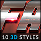 10 3D Styles vol. 25 - GraphicRiver Item for Sale
