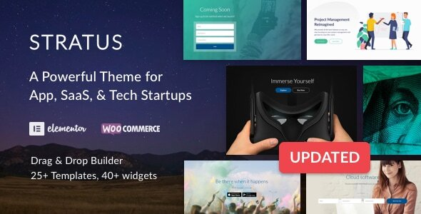 App, SaaS & Software Startup Tech Theme - Stratus