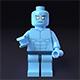 LEGO minifigure - Dr. Manhattan - Watchmen - 3DOcean Item for Sale
