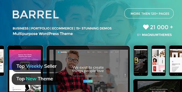 Barrel - Creative Corporate Business Responsive Multi-Purpose WordPress Theme
