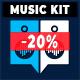 Powerful Energetic Sport Rock Music Kit